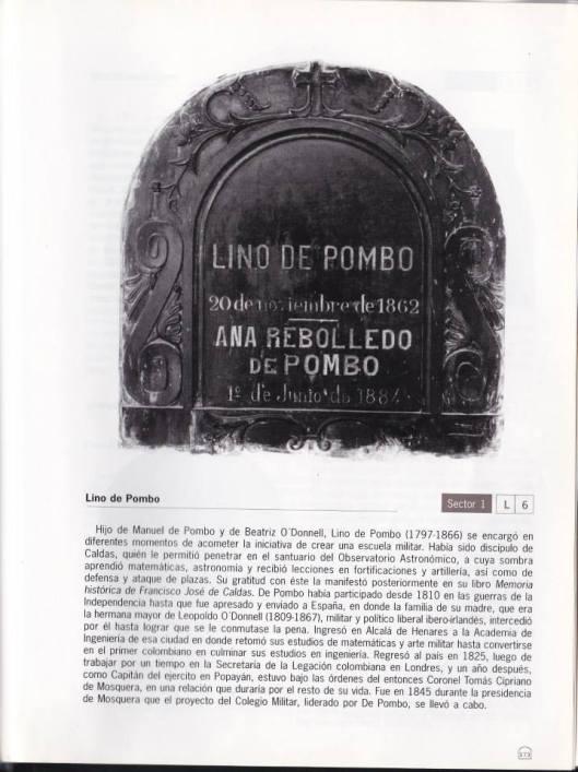 Tumba de Lino de Pombo y Ana Rebolledo de Pombo. Cementerio Central de Bogotá