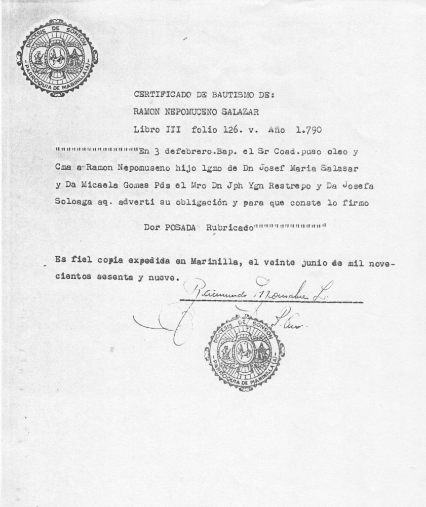 Matrimonio Catolico No Registrado Colombia : Registros parroquiales partidas de bautismo en colombia