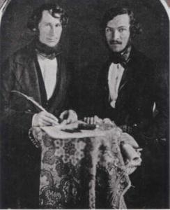 Henry Price y Luis Garcia Hevia. Daguerrotipo