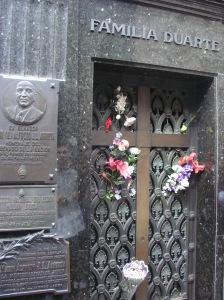 Tumba de Evita Perón en el Cementerio de la Recoleta. Buenos Aires, Argentina.